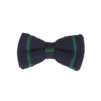 Marcell Sanders men fly loop tie cotton knitted look bound blue-green