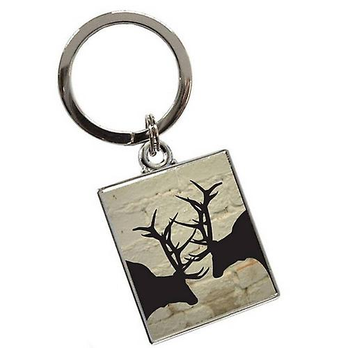 Tyler and Tyler Brick Rut Keyring - White