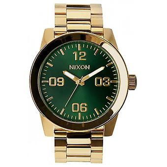 Nixon The Corporal SS Watch - Gold/Green Sunray