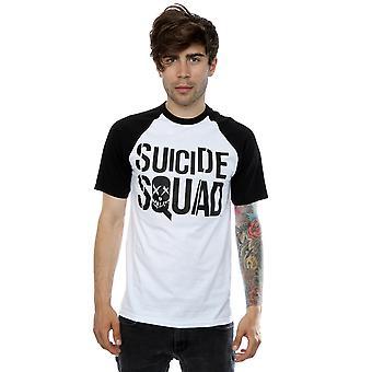 Suicide Squad Men's Movie Logo Baseball T-Shirt