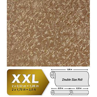 Uni wallpaper EDEM 9011-35 non-woven wallpaper shaped spatula look shiny brown bronze 10.65 m2