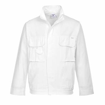 Portwest - Painters Durable Absorbent 100% Cotton Practical Workwear Jacket