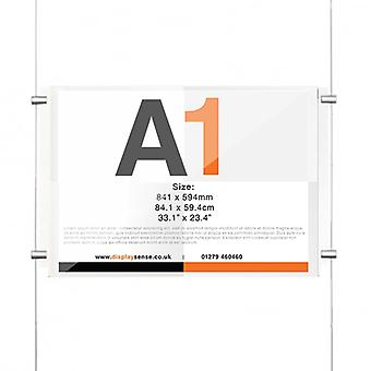 A1 Ceiling To Floor Poster Cable Kit - Landscape