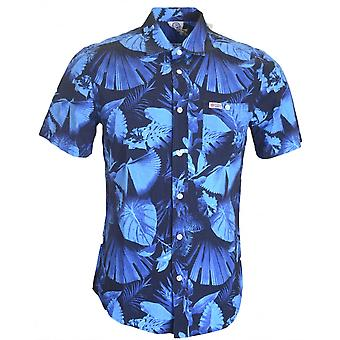 Franklin & Marshall Al328 Hollywood azul bosque camisa