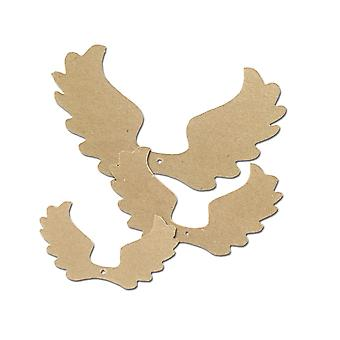 SALE - 3 Paper Mache Christmas Angel Wings in Flight for Crafts