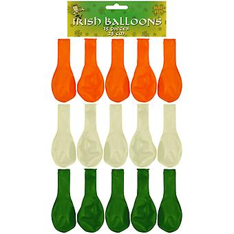 Lot de 15 ballons vert blanc Orange irlandais Saint-Patrick