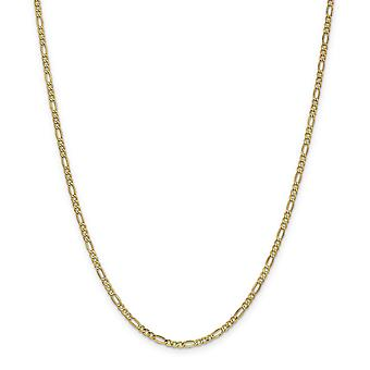 14 k 2,5 mm semi-solidi Figaro catena collana - lunghezza: 16 a 28