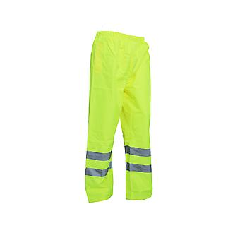 Yoko Mens Hi-Vis Waterproof Contractor Over Trousers