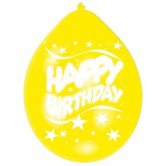 Amscan Multicoloured Happy Birthday Party Balloons (Pack Of 10)