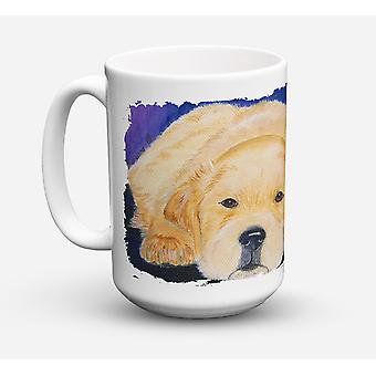 Golden Retriever Dishwasher Safe Microwavable Ceramic Coffee Mug 15 ounce