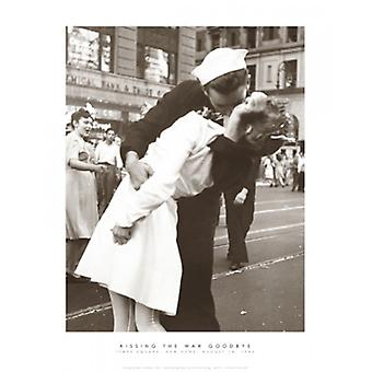 Kyssing krigen farvel Poster trykk av Victor Jørgensen (11 x 14)