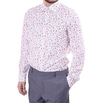 Paul Smith London Mens Floral Print Tailored Single Cuff Cotton Shir