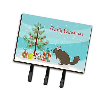 Carolines Treasures  BB9242TH68 Chinchilla Christmas Leash or Key Holder