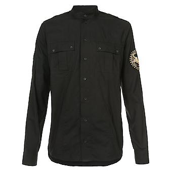 Balmain men's W7H1167T212B176 black cotton shirt