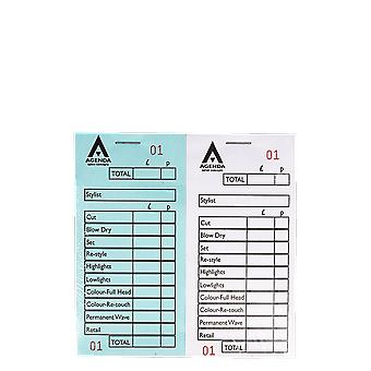 Agenda Salon Concepts Numbered Check Pads 12 Assorted