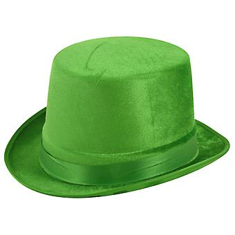 St Patrick's Day Fancy Dress Topper Green Velour Irish Hat