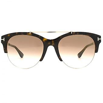 Tom Ford Adrenne Sunglasses In Dark Havana