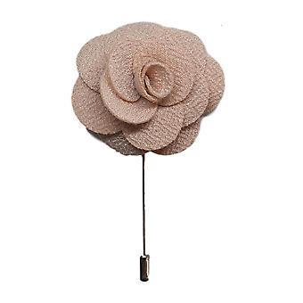 Prendedor flor/se levantó hecho a mano color beige para usar con traje chaqueta de los hombres, chaqueta, chaqueta de cena o chaqueta de esmoquin