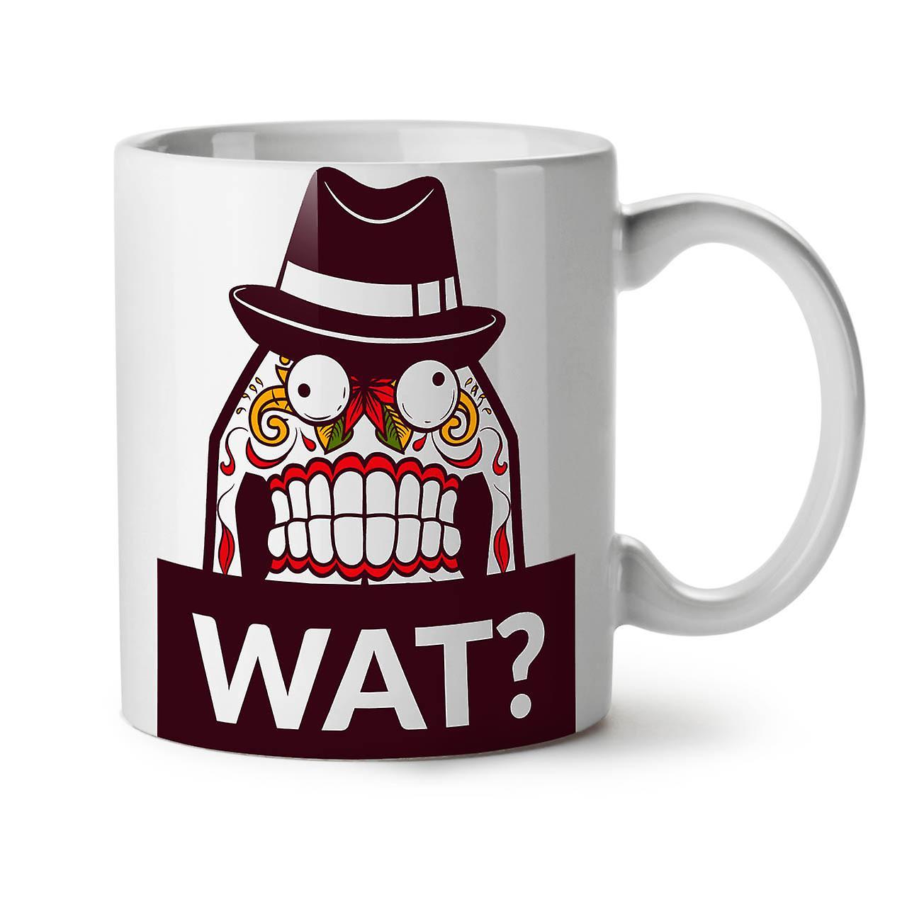 Skull 11 OzWellcoda Funny Tea Coffee What New White Mug Ceramic ulF1Jc53TK