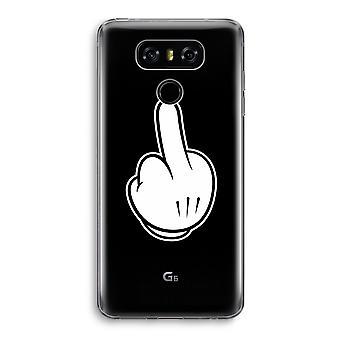 LG G6 Transparent Case - Middle finger black