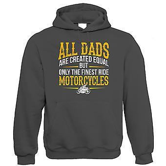 Finest Dads Ride Motorcycles, Mens Biker Hoodie