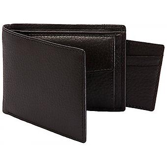Dents Pebble Grain RFID Removable Card Holder Bifold Wallet - Brown