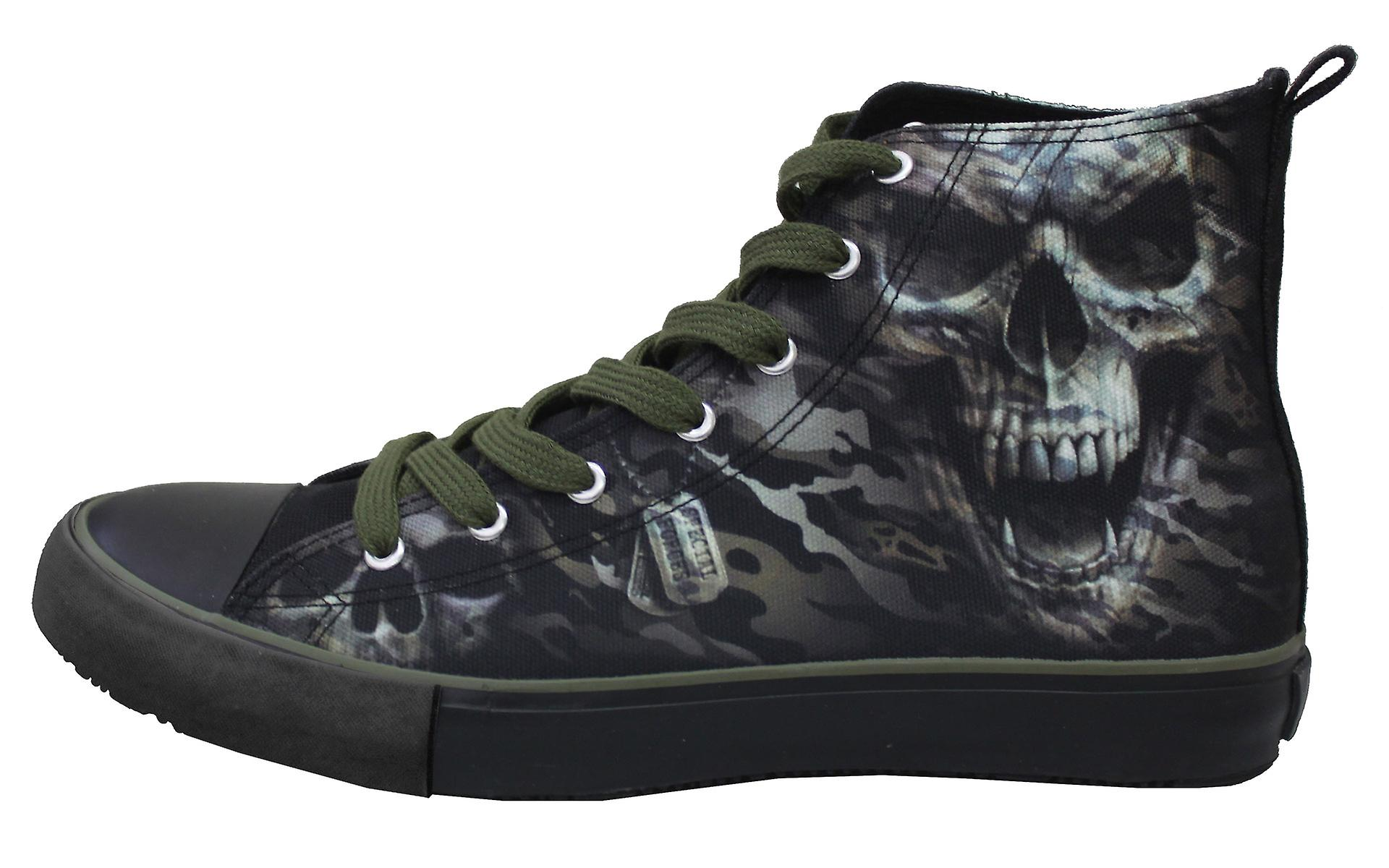 Laceup SKULL Men's Top Sneakers CAMO High Spiral gxY8fY