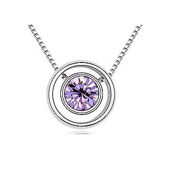 Circle and Element purple Swarovski Crystal Necklace