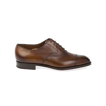 Edward green men's CHELSEADARKOAKANTIQUE brown leather lace-up shoes