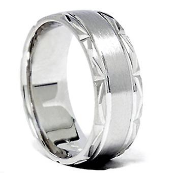 Spazzolato Wedding Band 950 Platinum