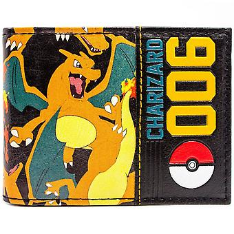 Pokemon Charizard 006 Pokeball ID & Card Bi-Fold tegnebog