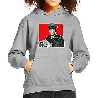 Elvis Presley Signing Autographs Army Uniform Pop Art Kid's Hooded Sweatshirt