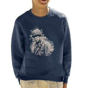 Lee Marvin In The Big Red One 1978 Kid's Sweatshirt
