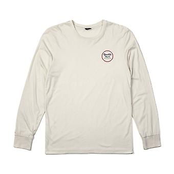 Brixton Wheeler Long Sleeve T-Shirt Off White