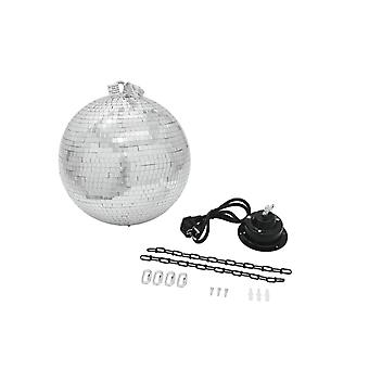 Mirror ball 30 cm with motor