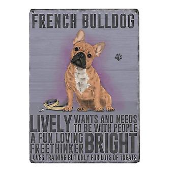 Medium Wall Plaque 200mm x 15mm - French Bulldog