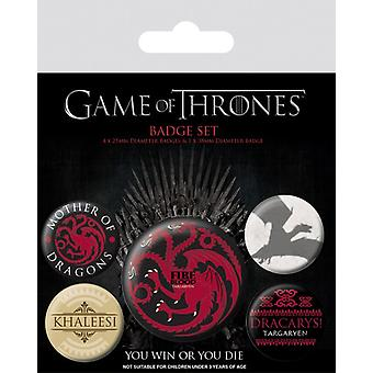 Game of Thrones (Fire and Blood) badge pack
