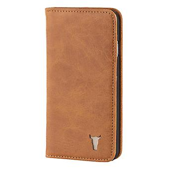 Iphone 6 Plus / 6s Plus Usa Tan Leather Case, With Stand Function