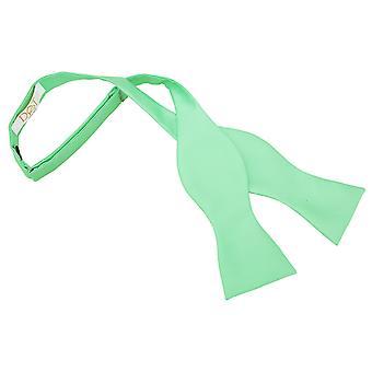 Mint Grün solide Check binden Fliege