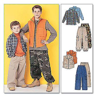 Children's/Boys' Shirt, Vest and Pull-On Pants-Z (MED-LRG-XLG) -*SEWING PATTERN*