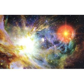 Geburt von einem Sterne Poster drucken