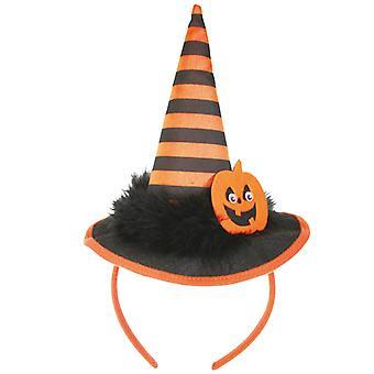 Haarreif Halloween schwarz-orange Kürbis Hexe Accessoire
