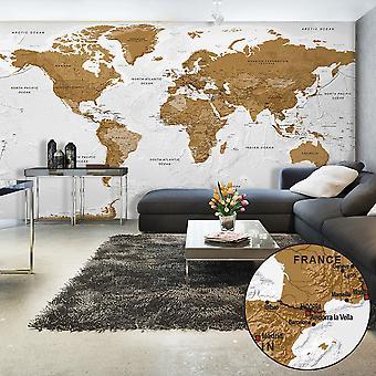 XXL tapet - Världskarta: White Haven II