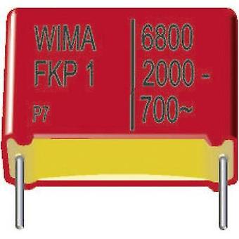 Wima FKP1R026807B00KSSD 1 pc(s) FKP thin film capacitor Radial lead 0.068 µF 1250 Vdc 10 % 37.5 mm (L x W x H) 41.5 x 11 x 22 mm