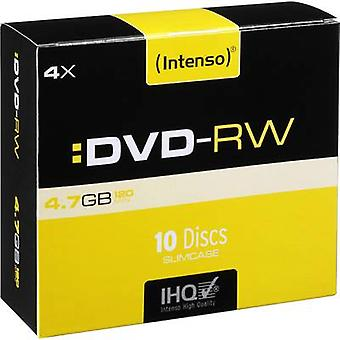 Blank DVD-RW 4.7 GB Intenso 4201632 10 pc(s) Slim case Rewritable