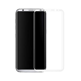 Samsung Galaxy S8 3D armoured glass foil display 9 H protective film covers case white