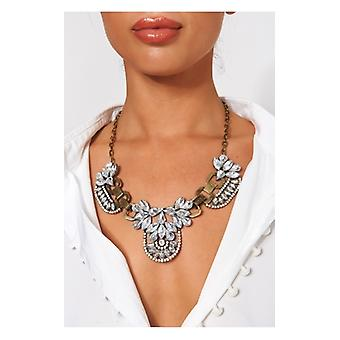 The Fashion Bible Vintage Crystal Cluster Statement Necklace