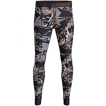 Bjorn Borg NY Skyscrapers Print Long Johns, Navy/Multi