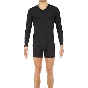 Hom Classic V-neck Long Sleeve T-shirt - Black