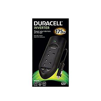 Duracell DRINV15-UK 175 W Powerstrip Twin Socket Inverter with Twin USB Ports